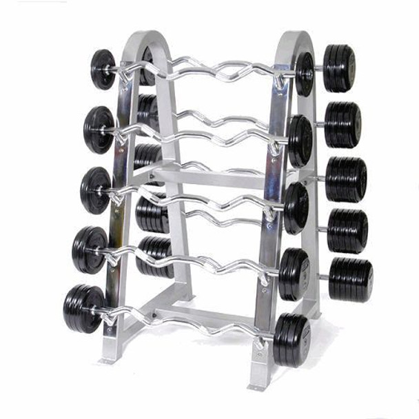 Troy Rubber Coated Fixed Barbell Set w/ Rack
