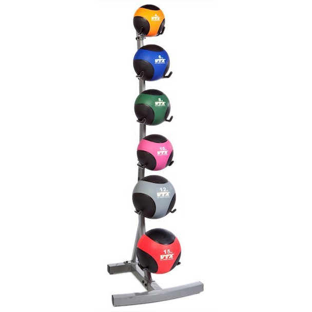 Troy VTX Weighted Fitness Ball Set with Rack
