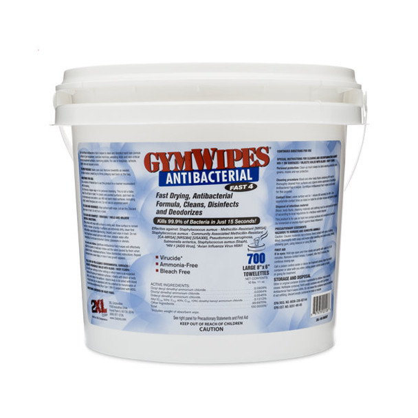 2XL-100 Alcohol-Free Gym Wipes Bucket