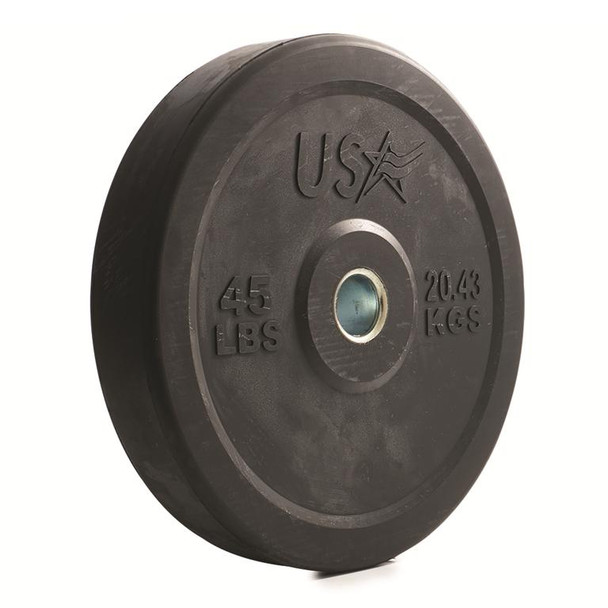 Troy USA Sports Black Olympic Bumper Plates
