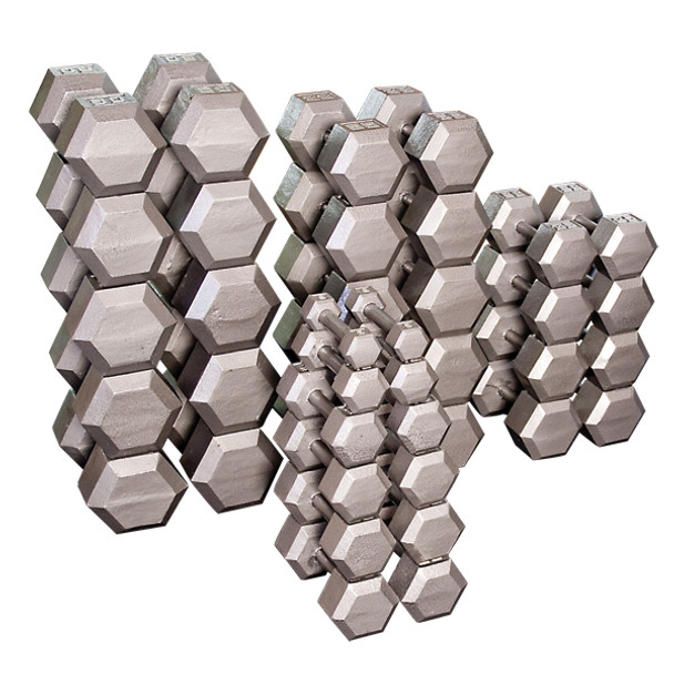 Body Solid Cast Iron Hex Dumbbells