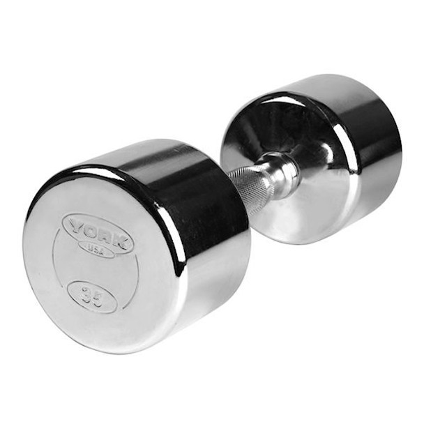 York Chrome Plated Dumbbells