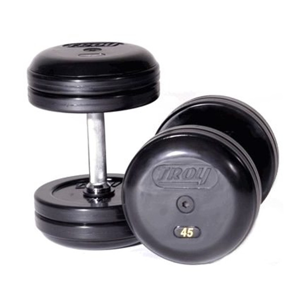 Troy Rubber Coated Pro Style Dumbbells