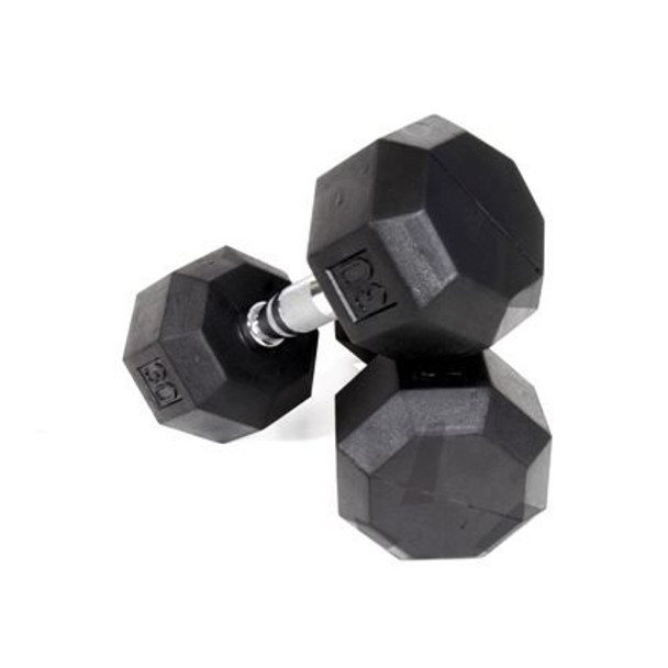 Troy VTX 8-Sided Rubber Coated Dumbbells