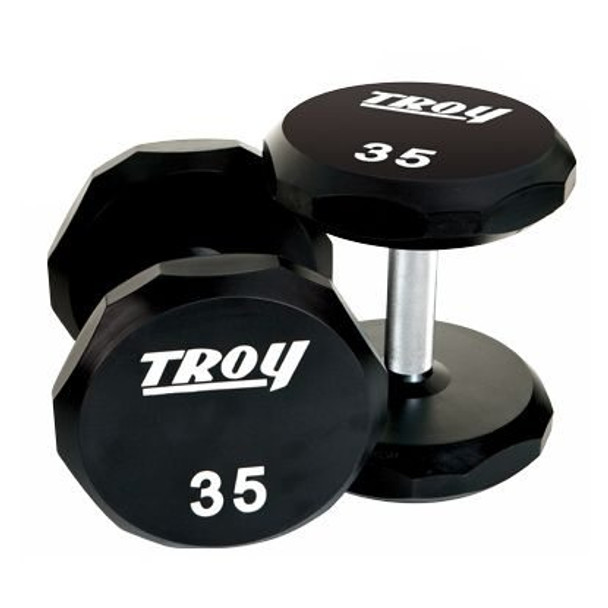 Troy Barbell Urethane Covered 12-Sided Dumbbell Pair