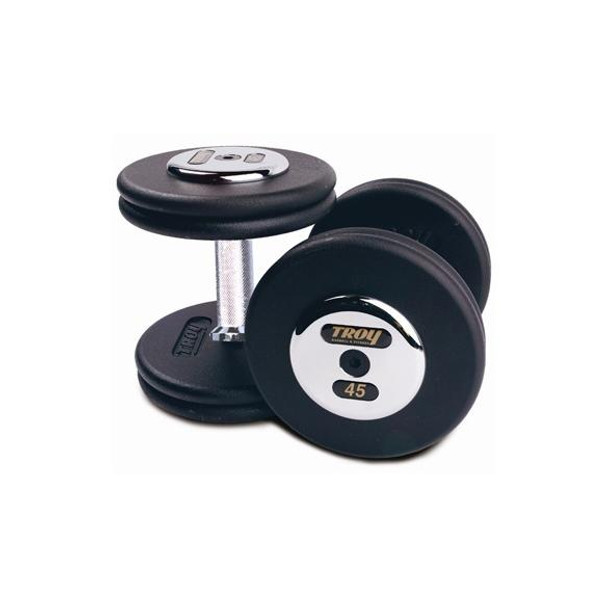 Troy (#PFD) Black Iron Pro-Style Dumbbells