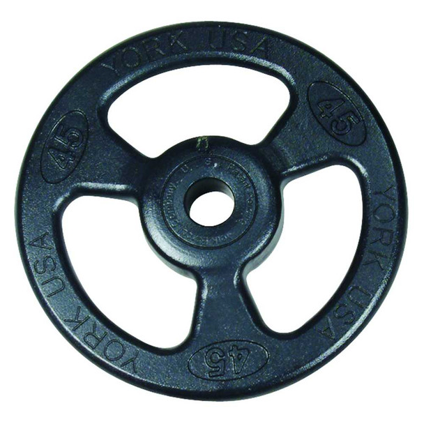 "York ""Iso-Grip"" Steel Olympic Weight Plates"