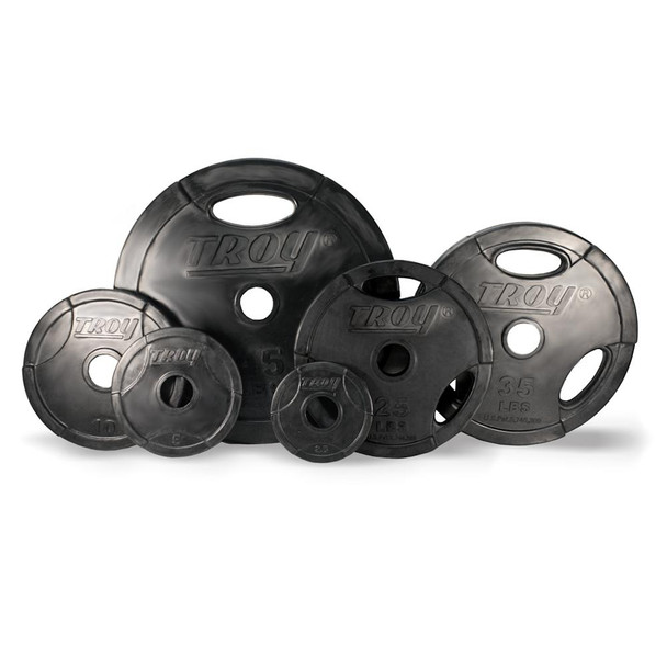 Troy (#GO-R) Rubber Olympic Grip Plates