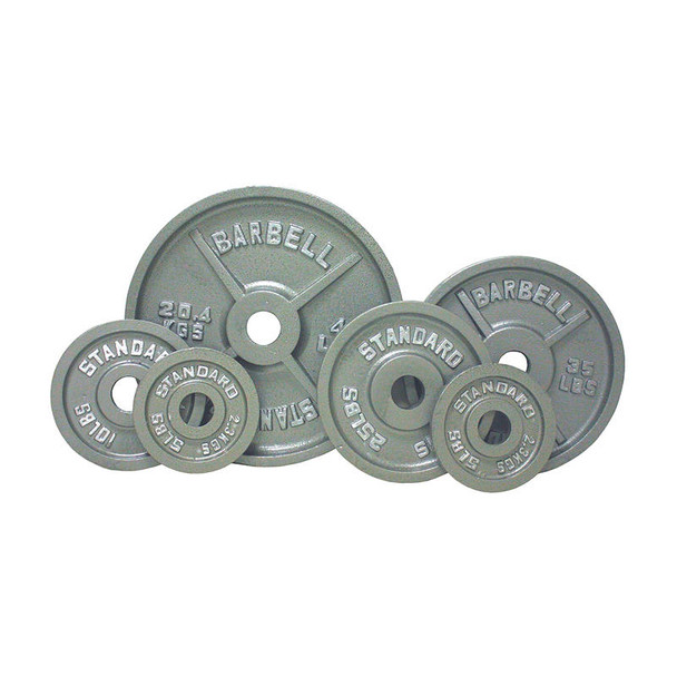 Troy USA Sports Gray Cast Iron Olympic Plates