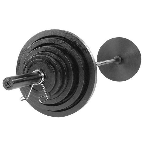 Body Solid Black Cast Iron Olympic Set