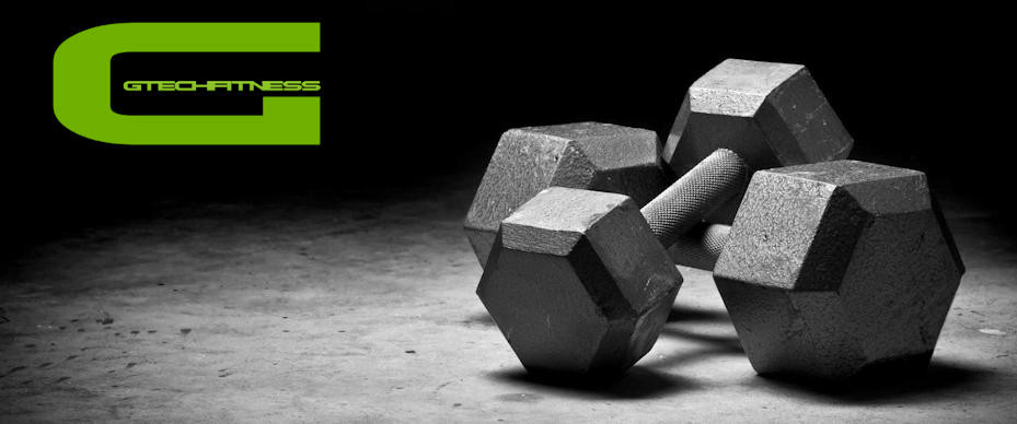 Gym Weights with Gtech Fitness Logo