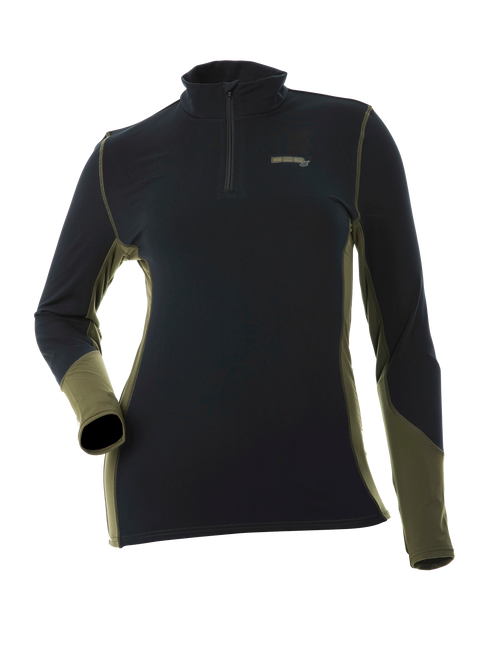 D-Tech Base Layer Shirt - Black/Olive
