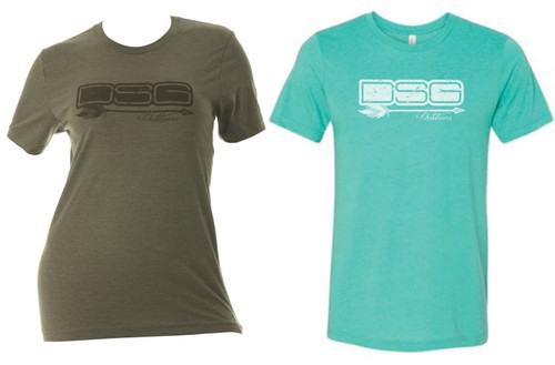 DSG Outdoors Tee - Heather Olive or Sea Green