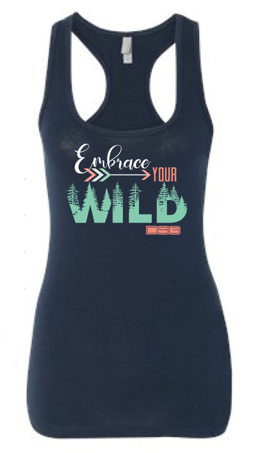 Embrace Your Wild Racerback Tank - Navy