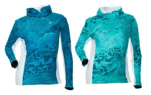 DSG Fishing - Wave Shirt - Realtree Wav3® Pattern - UPF 50 - Sea Blue or Aqua