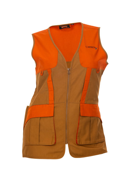 Upland Hunting Vest - Tan/Blaze Orange
