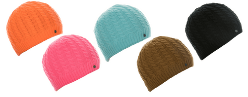 Cable Knit Beanie - Blaze Orange, Blaze Pink, Aqua, Black or Tan