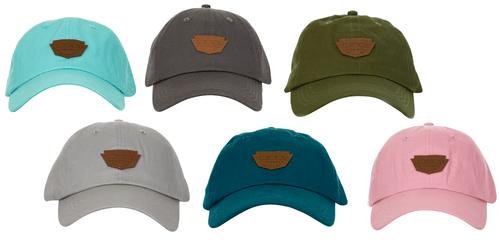 DSG Patch Baseball Cap - Aqua, Warm Grey, Olive, Grey, Navy or Salmon