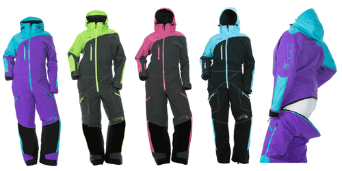 DSG Drop Seat Monosuit - Purple and Teal, Lime and Grey, Pink and Grey or Aqua and Black