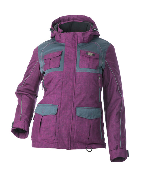 Arctic Appeal Jacket 2.0 - Deep Berry/Charcoal (Flotex Insulation)