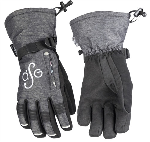 DSG Womens Lily Collection Glove Waterproof, Windproof - Black Heather