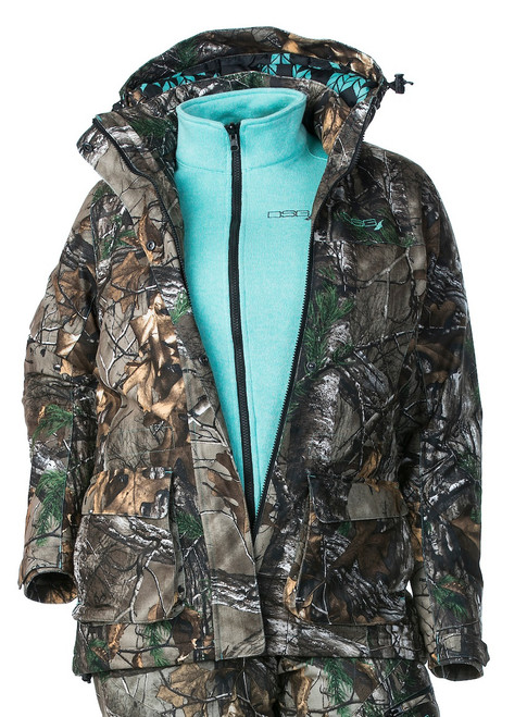 Kylie Camo Hunting Jacket with Fleece Liner - Realtree Xtra