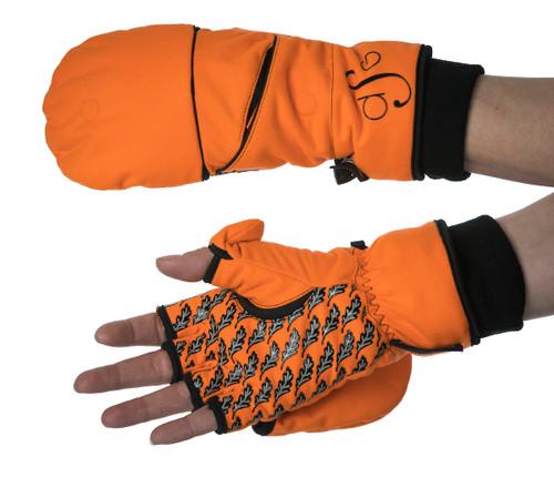 Blaze Orange Flip-Top Mitten - Women's Hunting
