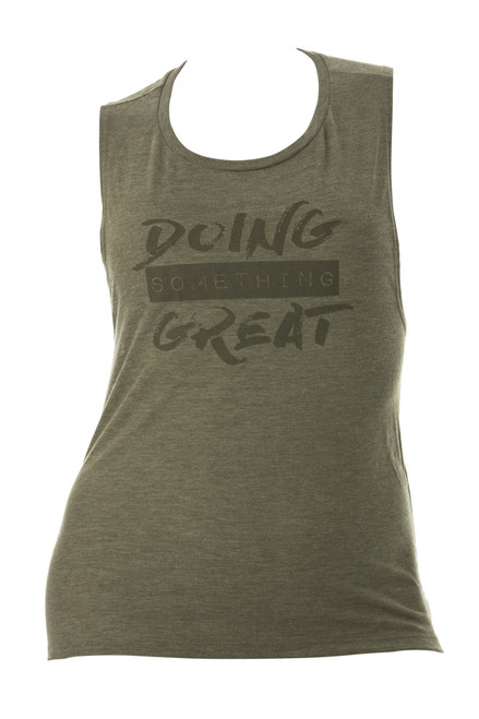 Doing Something Great Tank - Olive