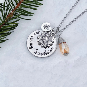 """""""You are my Sunshine"""" Charm Necklace"""