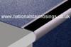 Heavy Duty Aluminium Rounded Anti Slip Stair Nosings For Carpets.
