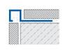 Aluminium Square Edge Tile Trim - 2.5m