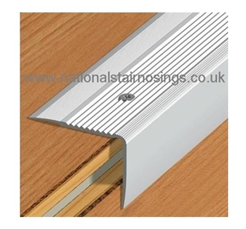 Aluminium Stair Edge Nosing For Laminate,Wood,Carpet,Tile - 55x44mm -2.5m