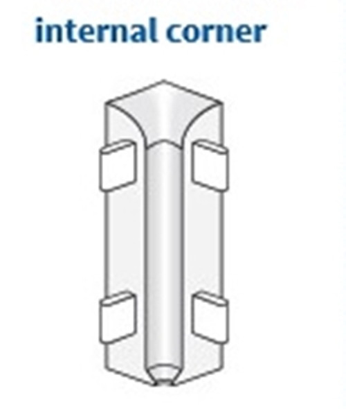 Internal Corner XI for Aluminium Clip-On Skirting