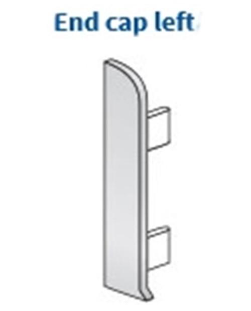 End Cap Left For Aluminium Clip-On Skirting