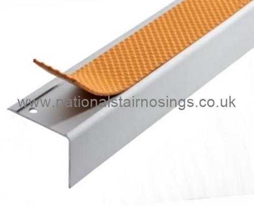 Exterior/Interior Anti Slip Square Stair Nosing Ramp Profile - 2.5m