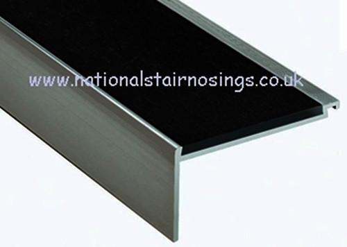 Heavy Duty Aluminium Square Anti Slip Stair Nosing For Carpets