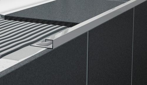 Stainless Steel Square Edge Tile Trim - 2.5m