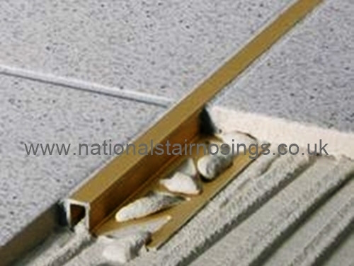 Brass Rectangular Box Edge Tile Trim-2.5m