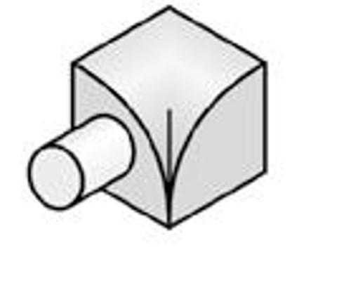Internal Corner Y1 For Stainless Steel Corner Quadrant Tile Trim
