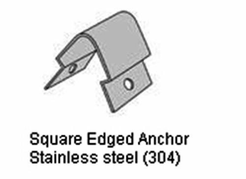 Square Edged Anchor For Square Flush Mount Corner Guard