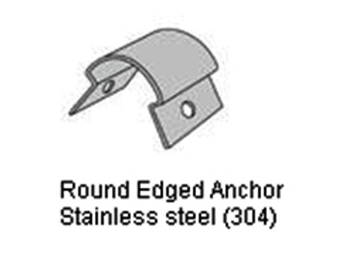 Round Edged Anchor For Round Flush Mount Corner Guard