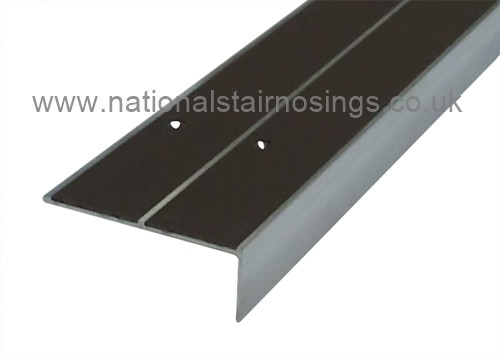 Double Channel Square Anti Slip Stair Nosing For Vinyl,Lino