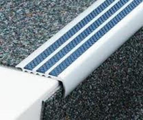 Aluminium Bullnose Anti Slip Carpet Stair Edge Nosings - 2.5m