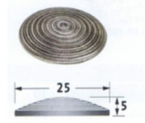 Stainless Steel Tactile Stud For Adhesive Fixing-Grooved, Flat Back
