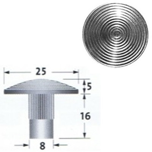 316 Stainless Steel Tactile Stud With Stem, Grooved
