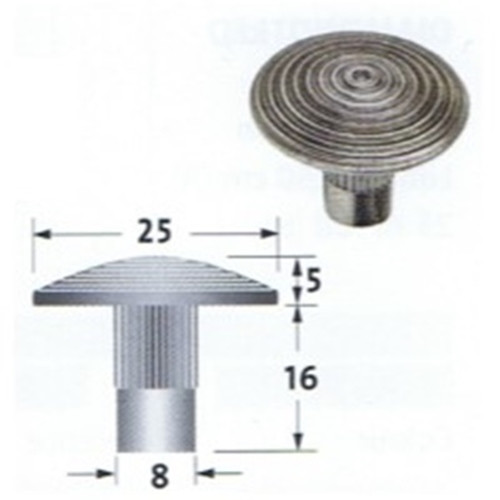 Stainless Steel Tactile Stud With Stem, Grooved