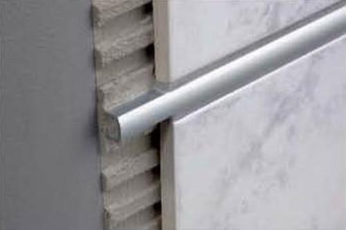 Aluminium Domed Listello Profile For Walls -2.5m