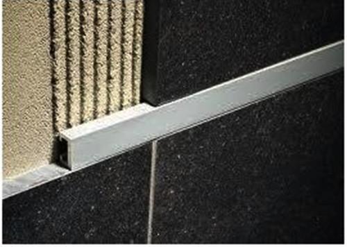 Aluminium Flat Listello Profile For Walls-2.5m