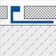 Aluminium 5mil Wide Straight Edge Tile Trim - 2.5m