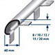 Flush Mount Stainless Steel Corner Guard With Round Edged Anchor-2.5m